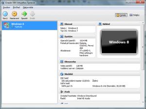 1. Ilustrace: Správně nastavený virtuální počítač v prostředí VirtualBox