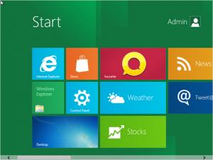 4. Ilustrace: Přepracovaná nabídka Start Windows 8